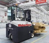 Combi-CB: Compact counterbalance design 4-way forklift