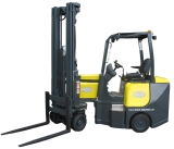 Aisle-Master electric powered articulated forklift. Click for more product information.