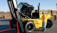 Equipped as standard manual or electric tilting cab, provide easy access for service