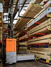HUBTEX Sideloaders in the Timber Industry. Click for more information.