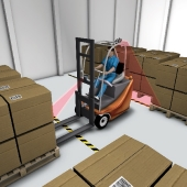 Automation equipment on manned forklift trucks. Click to visit the website.