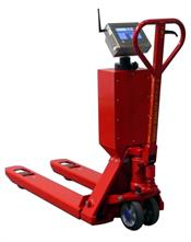 The ProLine Touch - a hand pallet truck scale which weighs loads in 0.2 lb increments.