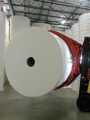 Typical large diameter Tissue Paper Roll.