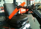 The SPRINGBELT seatbelt for extra operator safety in forklifts and industrial vehicles