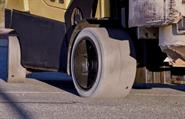 An engineered solution to the hazards of static build-up in non-marking forklift tires