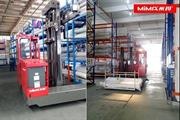 MiMA multi directional forklift in textile industry