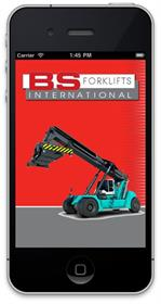 BS Forklifts' free app is available from the Apple App store.