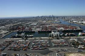 Port of Melbourne Melbourne was the busiest port in the first quarter.
