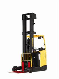 The new Hyster reach truck has a new mast design and a modular operator compartment.
