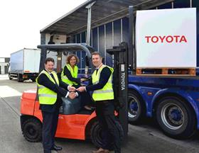 (L-R) Tony Wallis, Toyota's sales and marketing director; Aggie Krasnolucka-Hickman, Toyota's head of marketing & communications; and Sam Clark Programmes, Transaid's support manager.