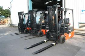 Gwent Mechanical Handling supplied Bearmach Doosan forklifts with customised extended forks.
