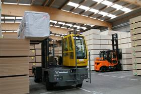Baumann sideloaders, Doosan counterbalance trucks, JCB Workmax site vehicles and Nilfisk cleaning equipment have been delivered to Metsä Wood.