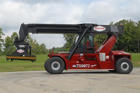 Taylor says its new TS-9972 reach stacker is unique.