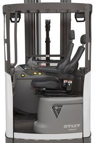 The Tergo forklifts have a backrest that can be tilted backwards by up to 18 degrees.