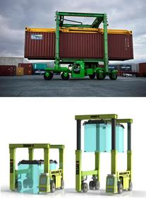 Container solutions from Mobicon (above) and Isoloader (below).