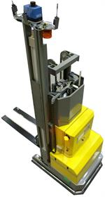 Amerden laser-guided forklift