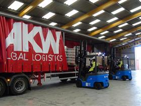 AKW Global Logistics' new BYD Lithium forklifts
