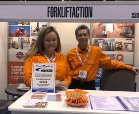 Forkliftaction's Jolie Booth and Jamie Shelton