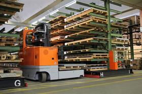 1	For this autumn Hubtex is planning to showcase an automated guided vehicle (AGV) tailored for handling long loads.