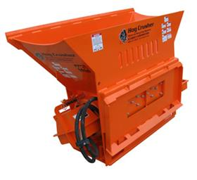 Multiquip's EZ Grout Hog Crusher can be attached to a skid steer loader or forklift.