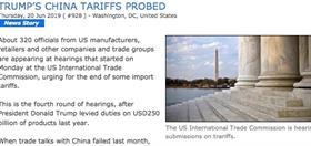 Flashback - hearings into tariffs