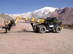 Haulotte's HTL 4017 working at 4000m altitude in an Argentine mine.