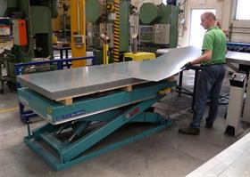 Ergonomic working station in the sheet metal working.