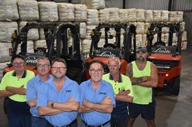 Westcoast Wool & Livestock forklift operators and directors with the new Linde machines