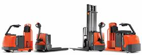 Toyota's core tow tractor, electric walkie pallet jack, walkie stacker, and centre-controlled rider pallet jack