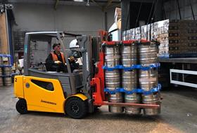 B&B's Keg Handling Attachments at Camerons Brewery