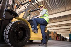 Aftermarket products make forklift operation even safer. PHOTO: CAT LIFT TRUCK