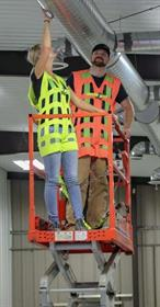 Warehouse Design's new harness design greatly reduces injury risk