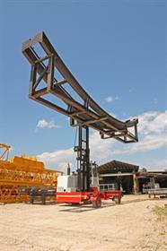 BP sideloader carrying steel frame