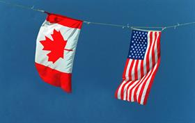 Trade between Canada and the US is vigourous