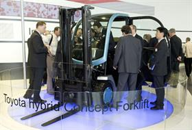 Toyota's hybrid caused a stir at CeMAT
