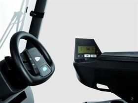 The Jungheinrich JetPilot steering wheel now available as an option for the EFG 425-430 forklift range.