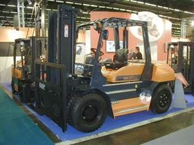 The Ergos 70 D-G counterbalanced forklift.