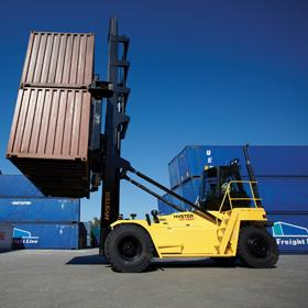 Hyster's big trucks comply with new emissions legislation that are implemented this year.