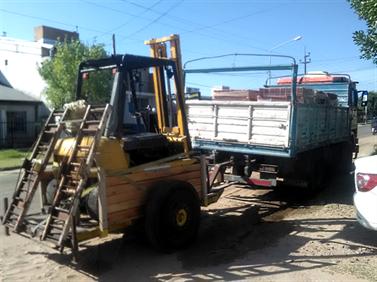 Un remolque construido para transportar a Lindy.