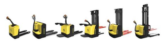 Hyster® UT series lift trucks, which operate in tight spaces, handling pallets, picking/storing inventory