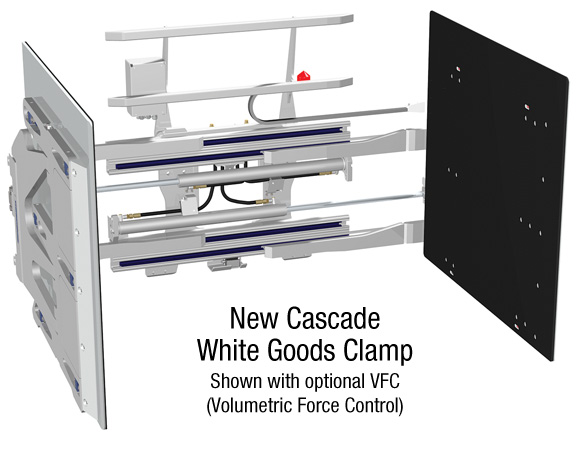 Clamp Forklift Controls : Cascade europe introduces new white goods clamps with