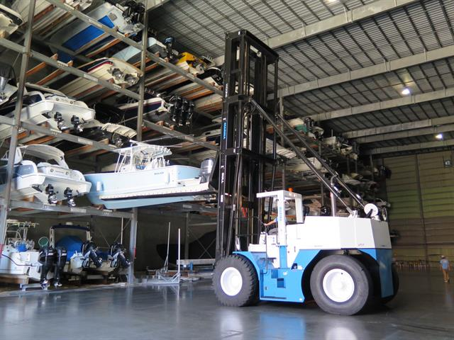 Massive Marina Forklift Goes To Work News Article