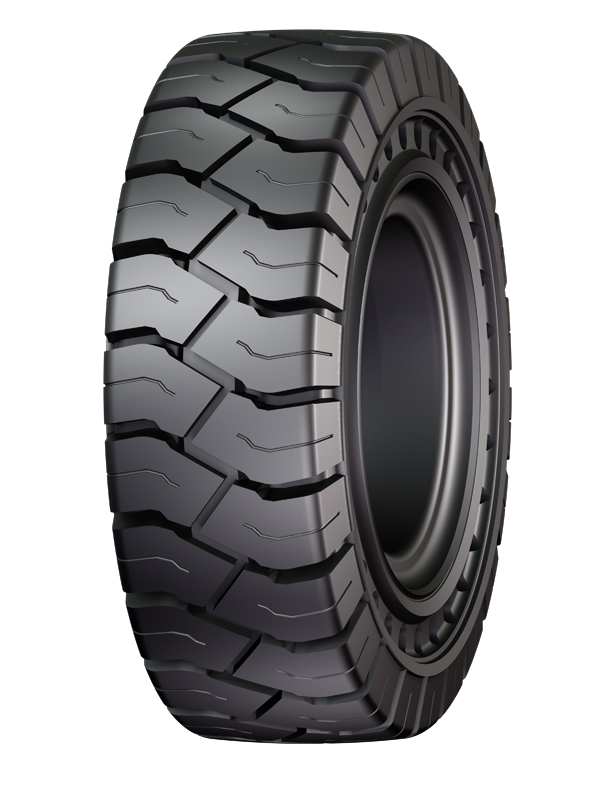 introducing solidair magnum aperture resilient forklift tire advertorial