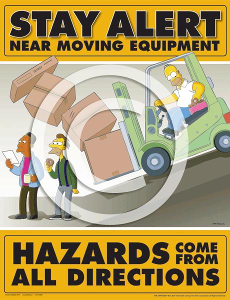 Homer On Forklift Delivers Safety Message News Article