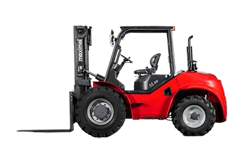 Hyster-Yale Maximal: Compact 4WD rough terrain forklift with Tier4