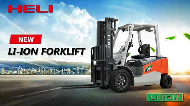 HELI's new series of lithium-ion forklifts