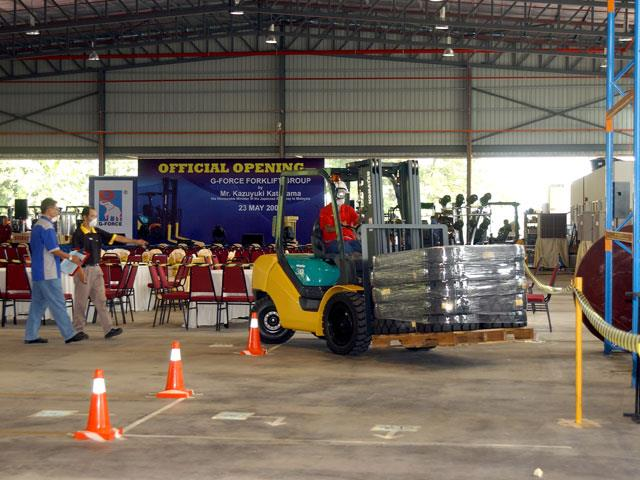 Growing Company Marks New Office With Forklift Competition