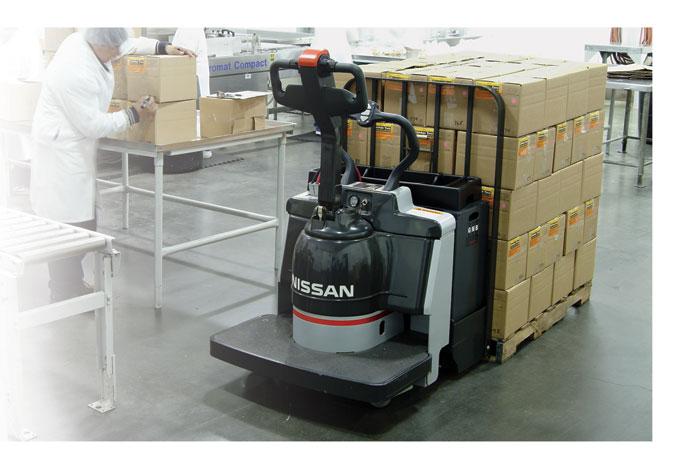 Nissan Forklift AC-Powered Platinum Pallet Trucks Feature