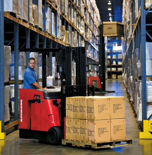 raymond forklifts go from dock to stock